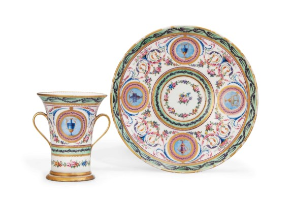 A SEVRES TWO-HANDLED CABINET-C