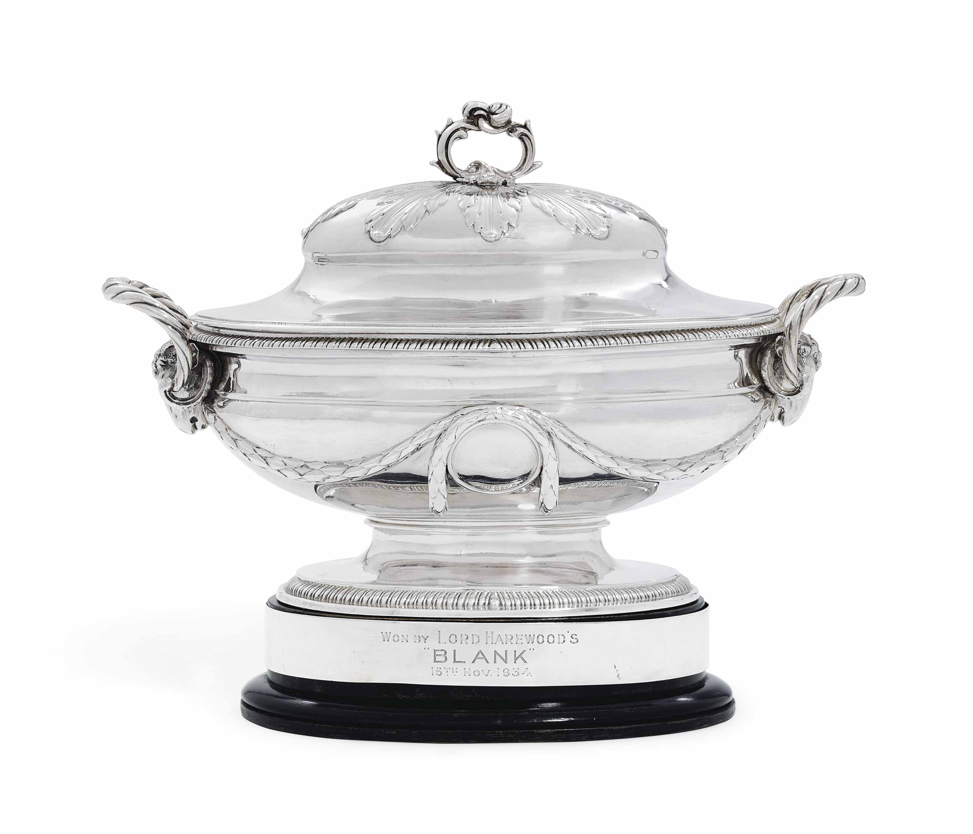 A GEORGE III SILVER TUREEN AND COVER
