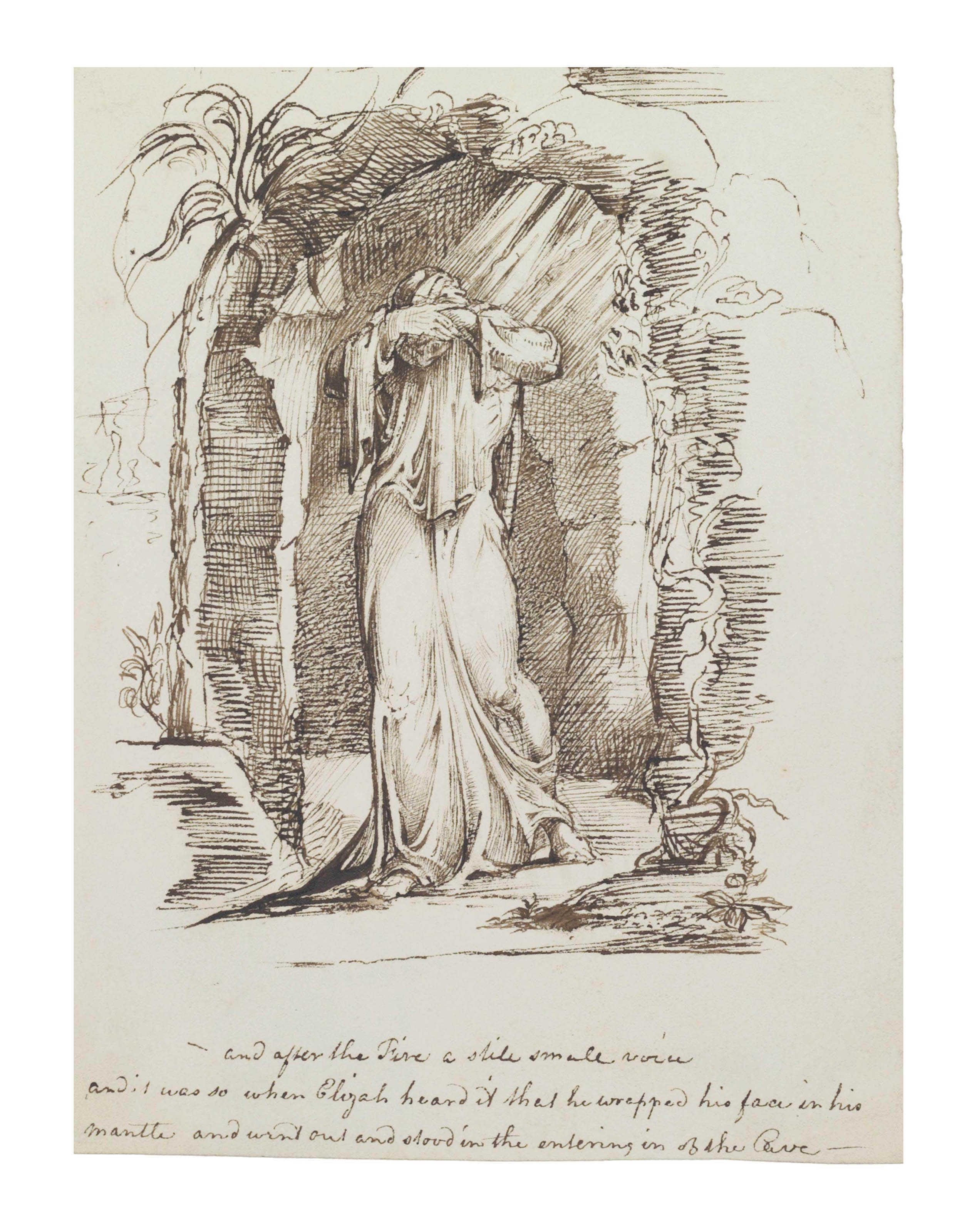 Elijah at the mouth of the cave