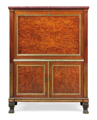 A directoire ormolu and patinated bronze mounted acajou for Furniture 08054