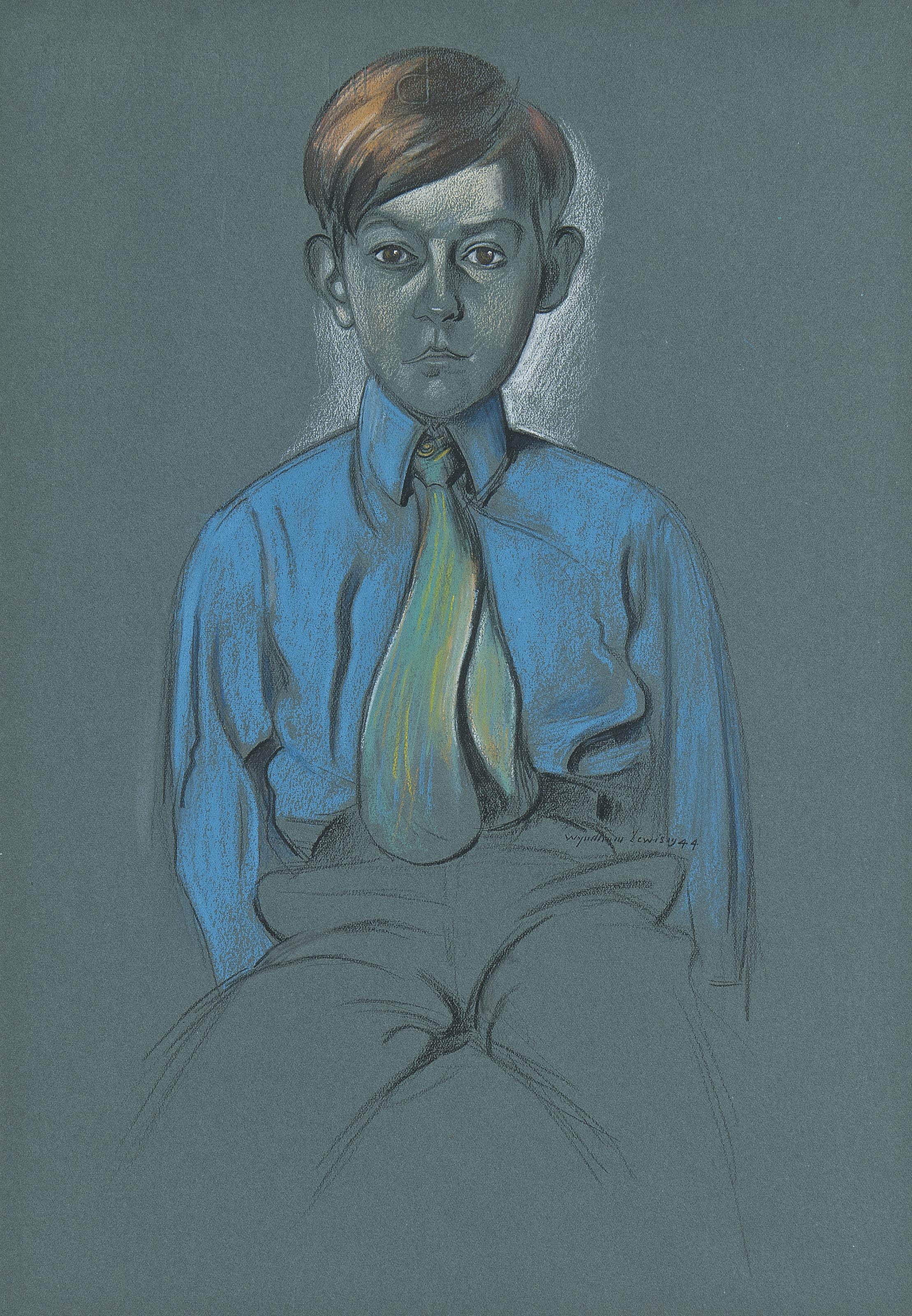 A seated boy