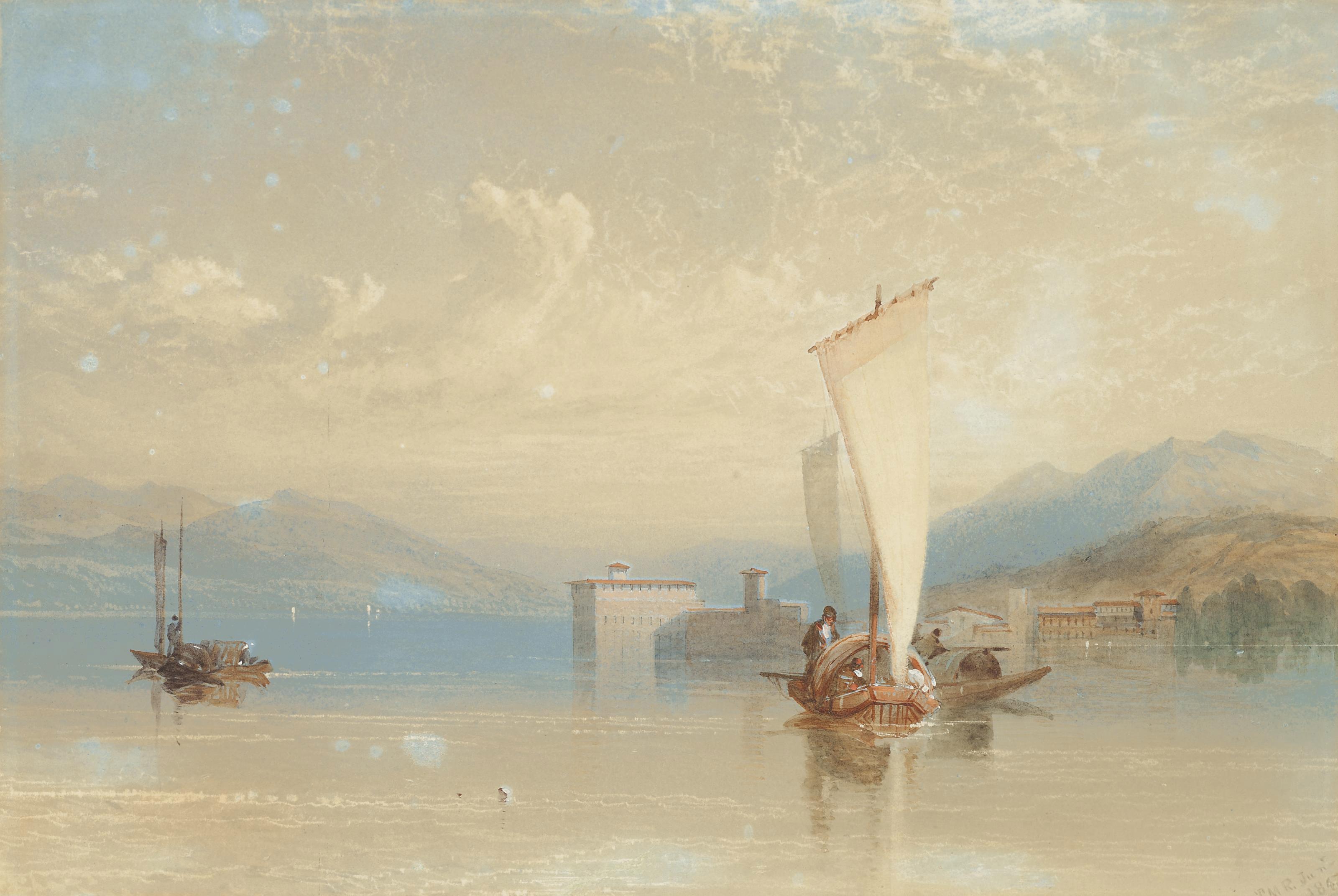 Shipping on a calm day, Lake Maggiore