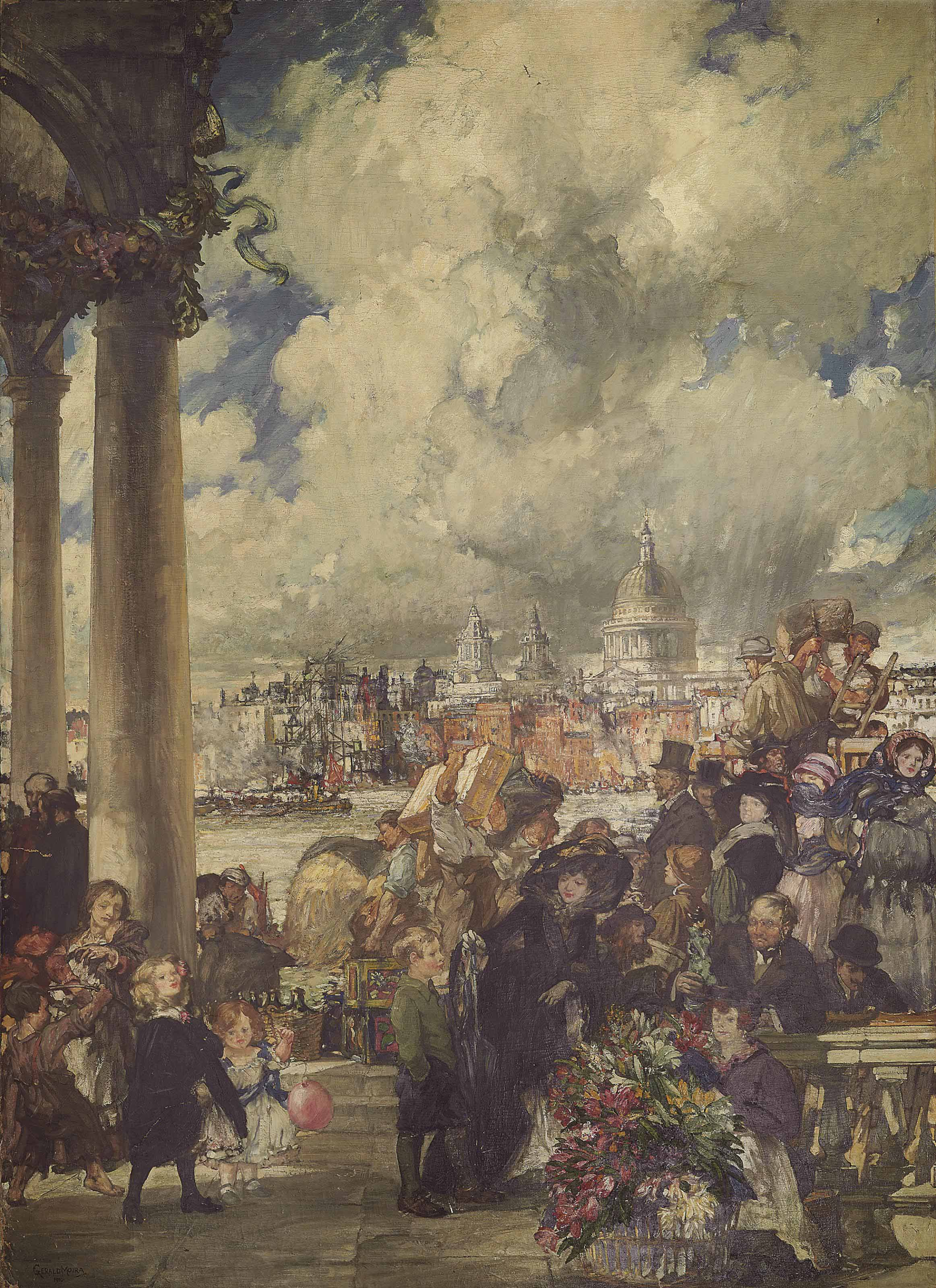 Market scene, south of the Thames
