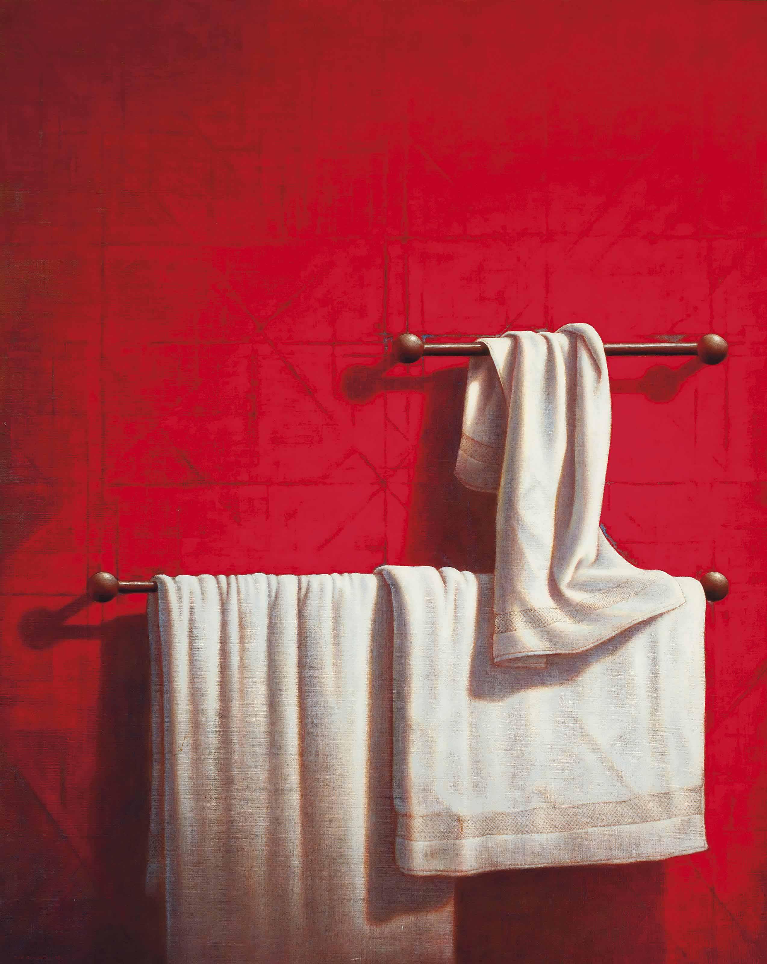 Bath towel and rail