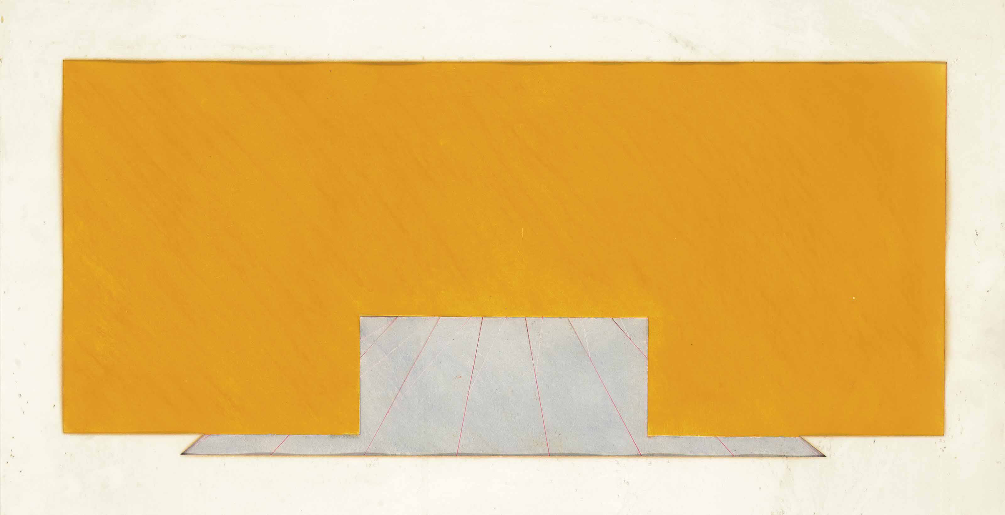 Untitled (Yellow and Grey)