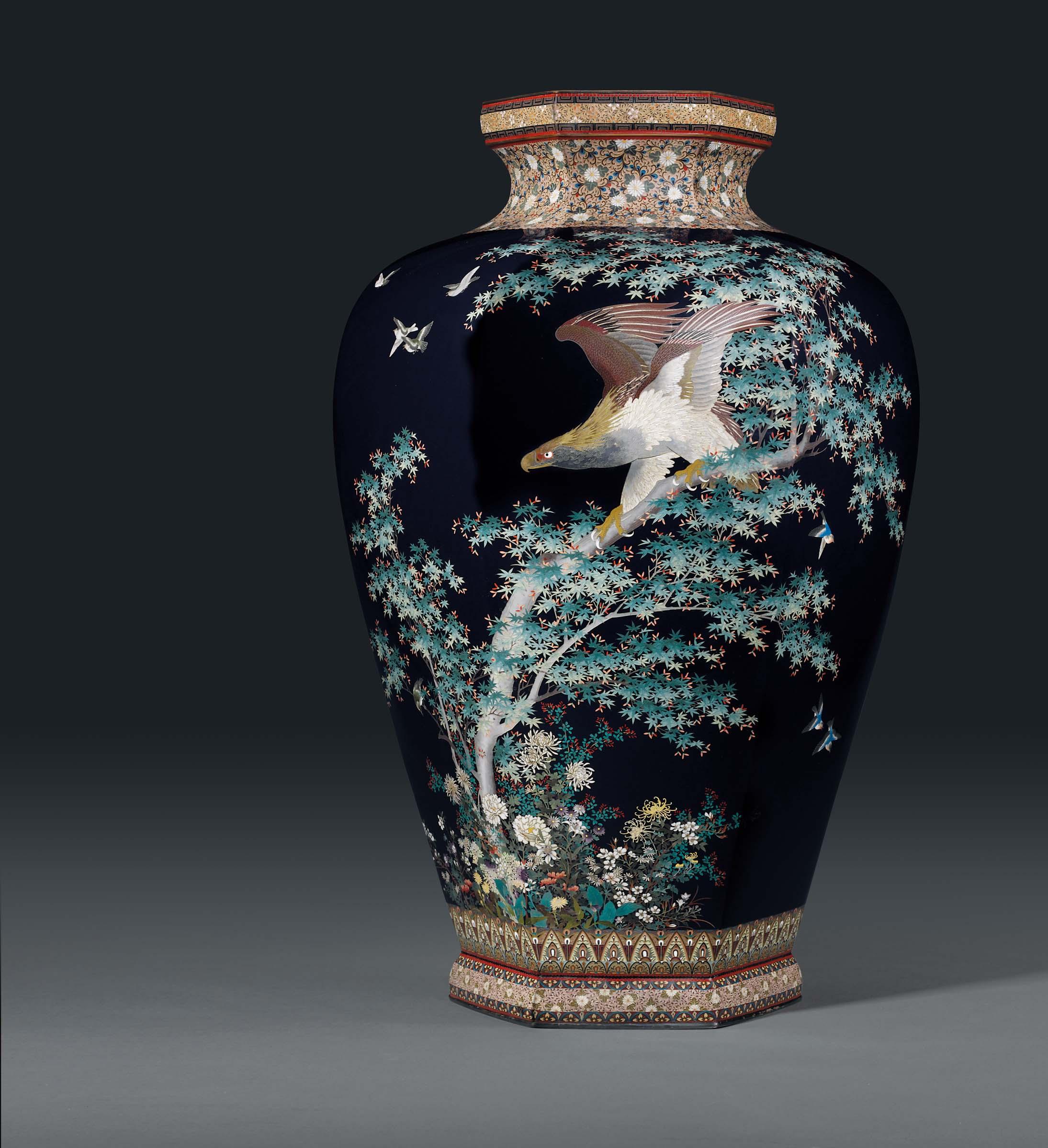 A Rare and Large Cloisonné Vase
