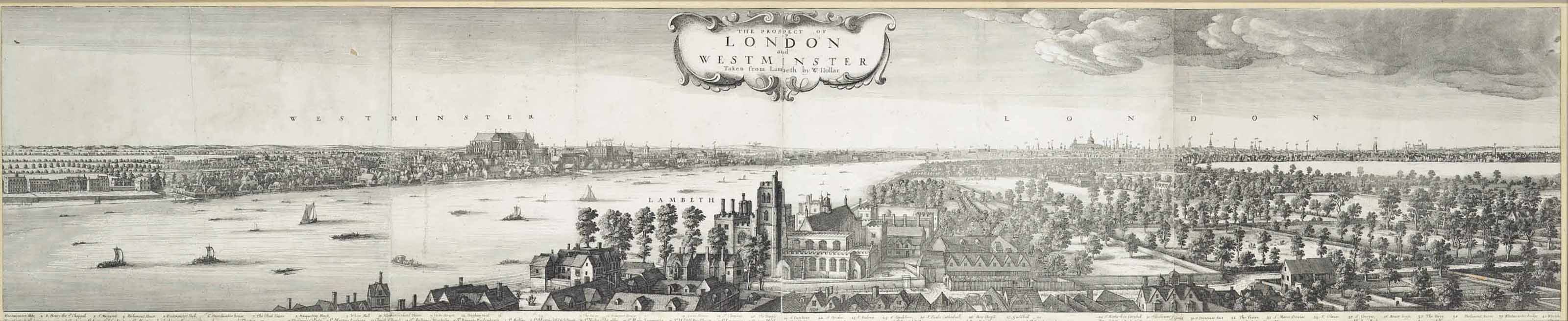 The Prospect of London and Westminster, taken from Lambeth (Pennington 1013)