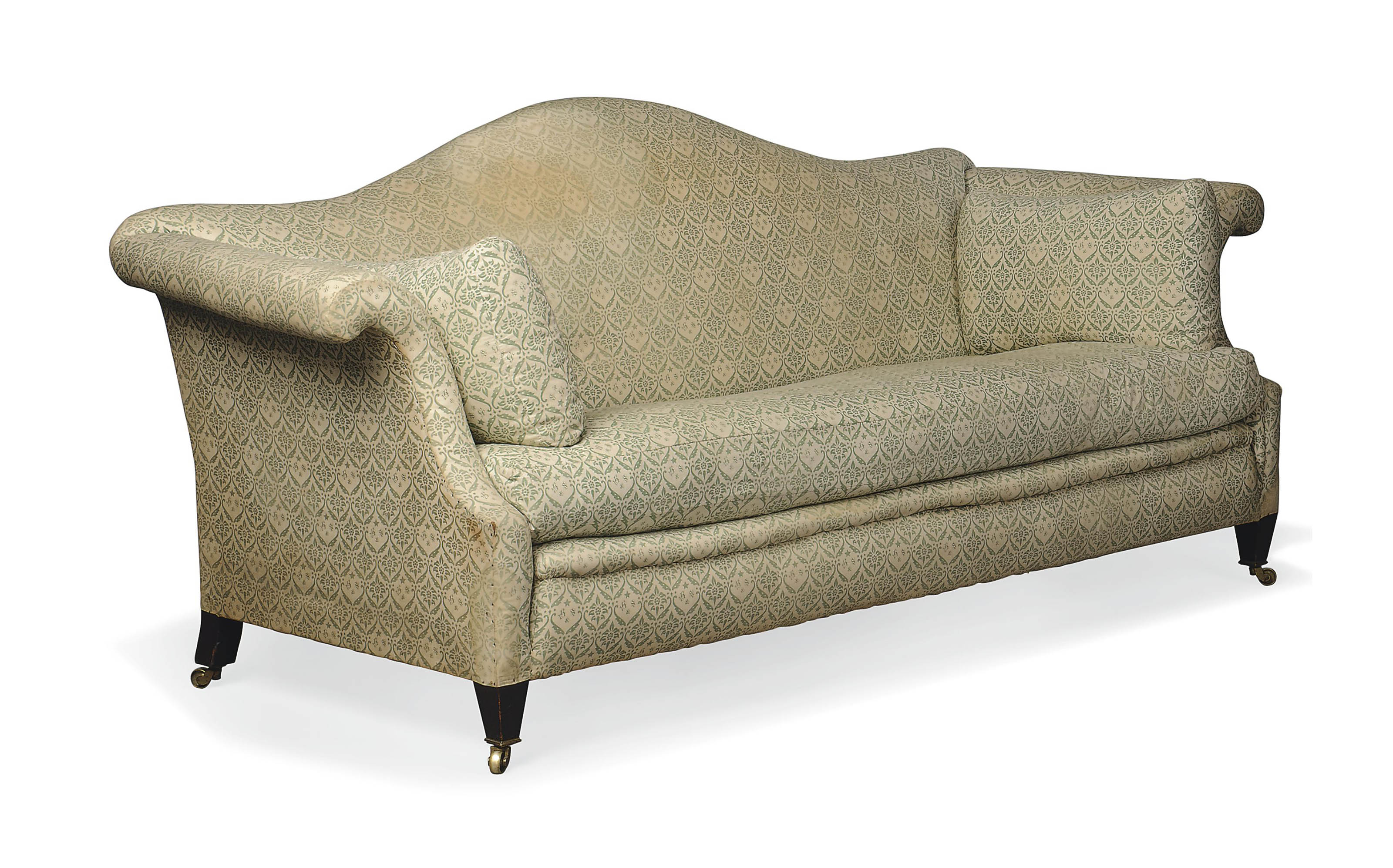 AN EDWARDIAN 'CAMEL' BACK SOFA