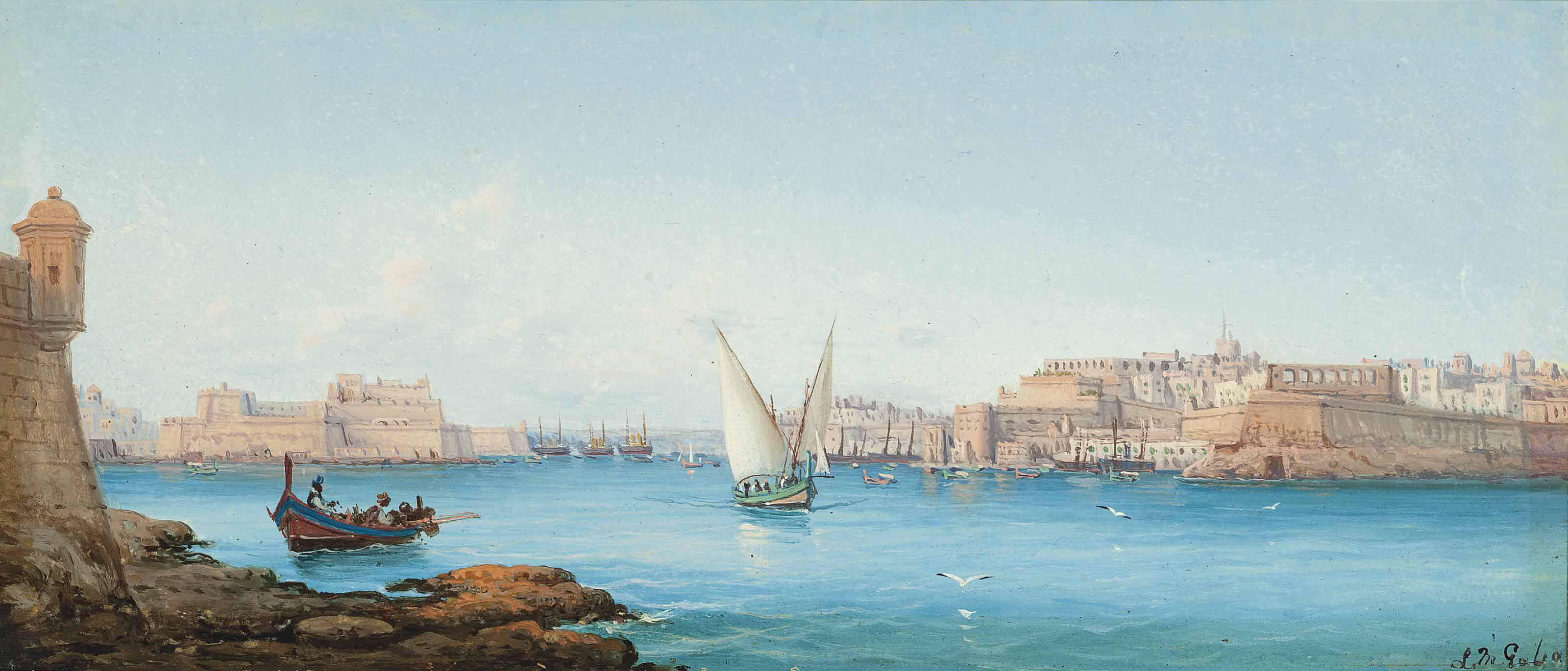The entrance to the Grand Harbour, Valetta