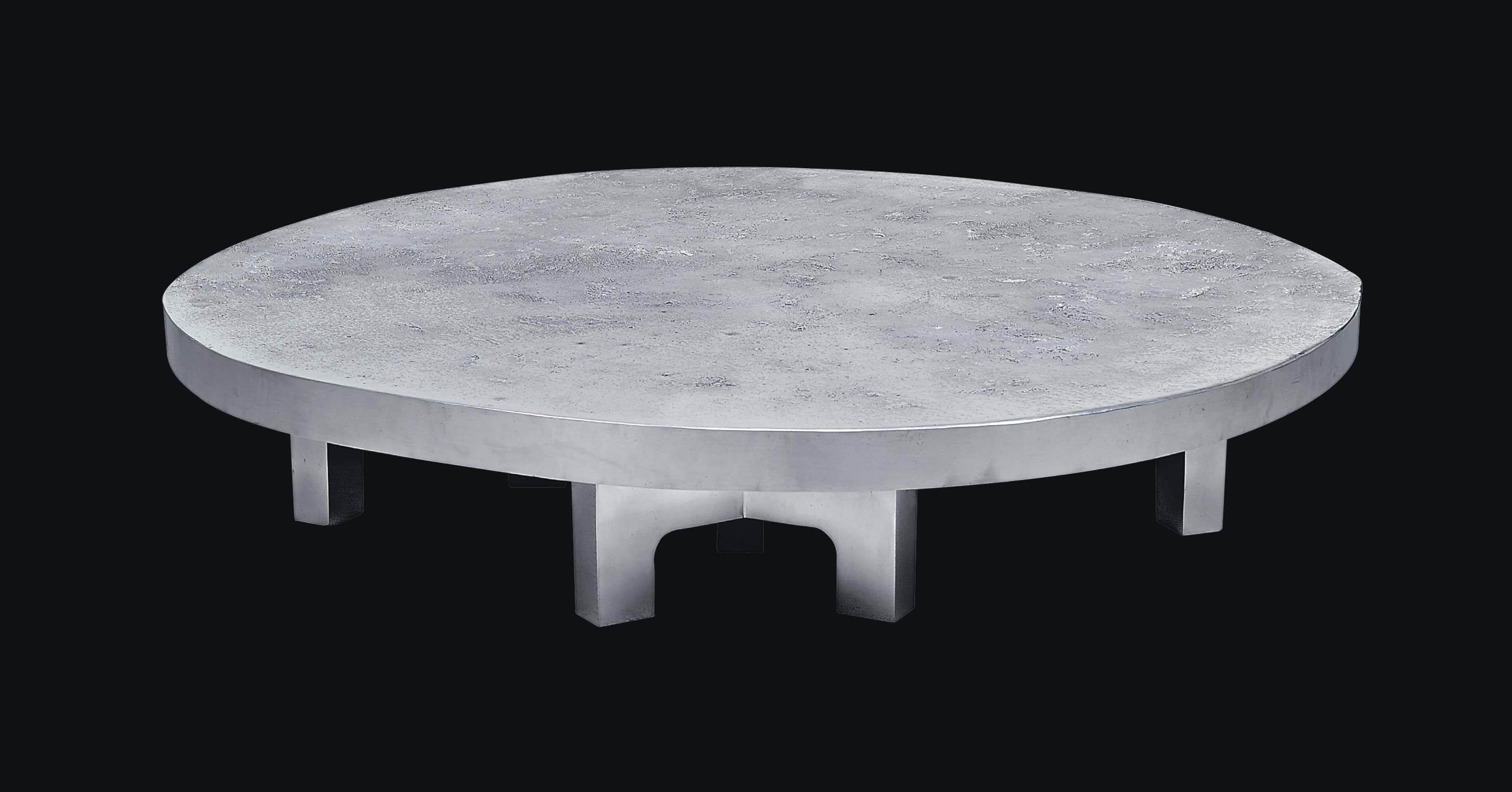 A CAST ALUMINIUM 'LUNA' TABLE