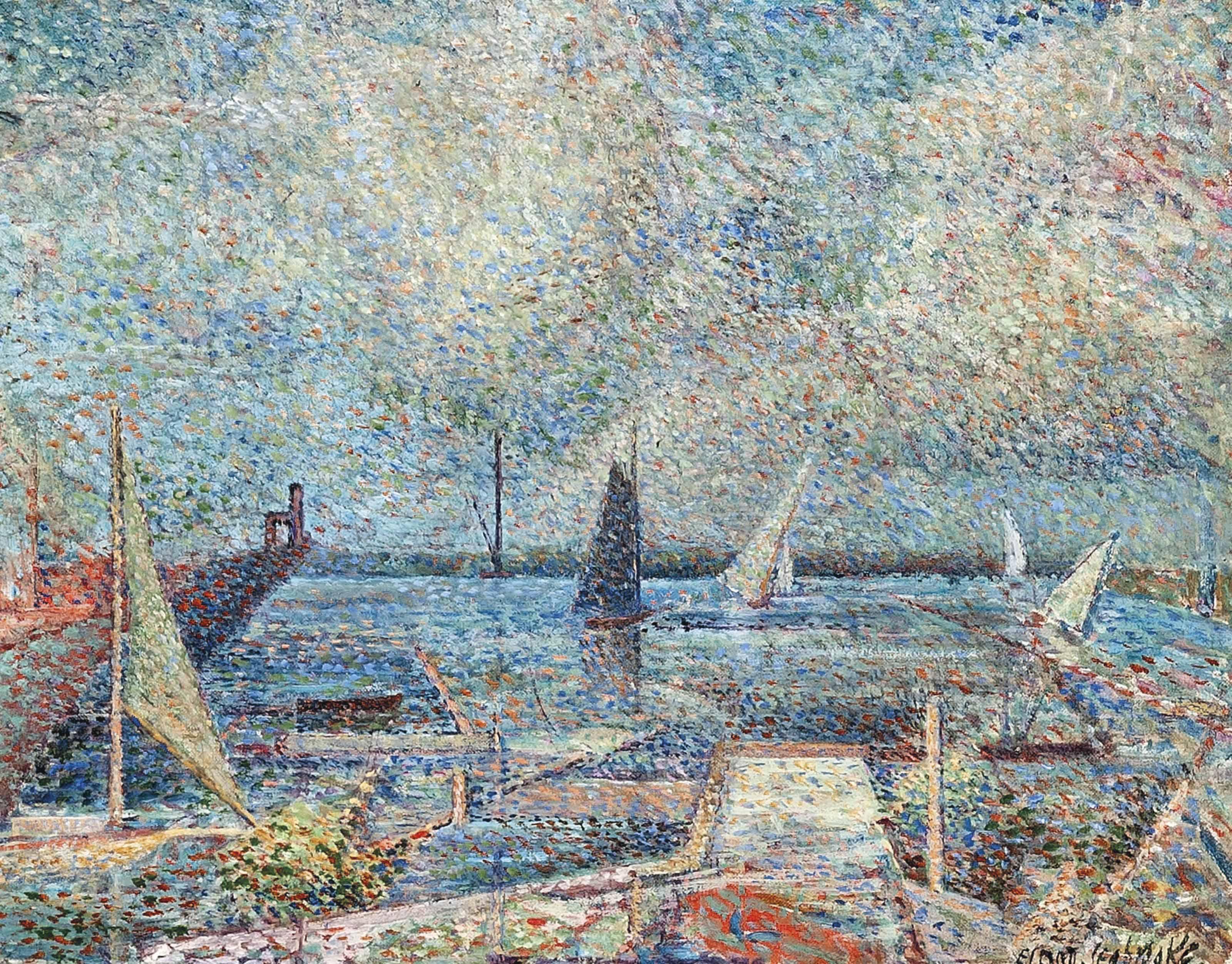 Harbour scene (recto); Landscape (verso)