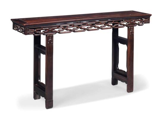 A CHINESE HONGMU TABLE