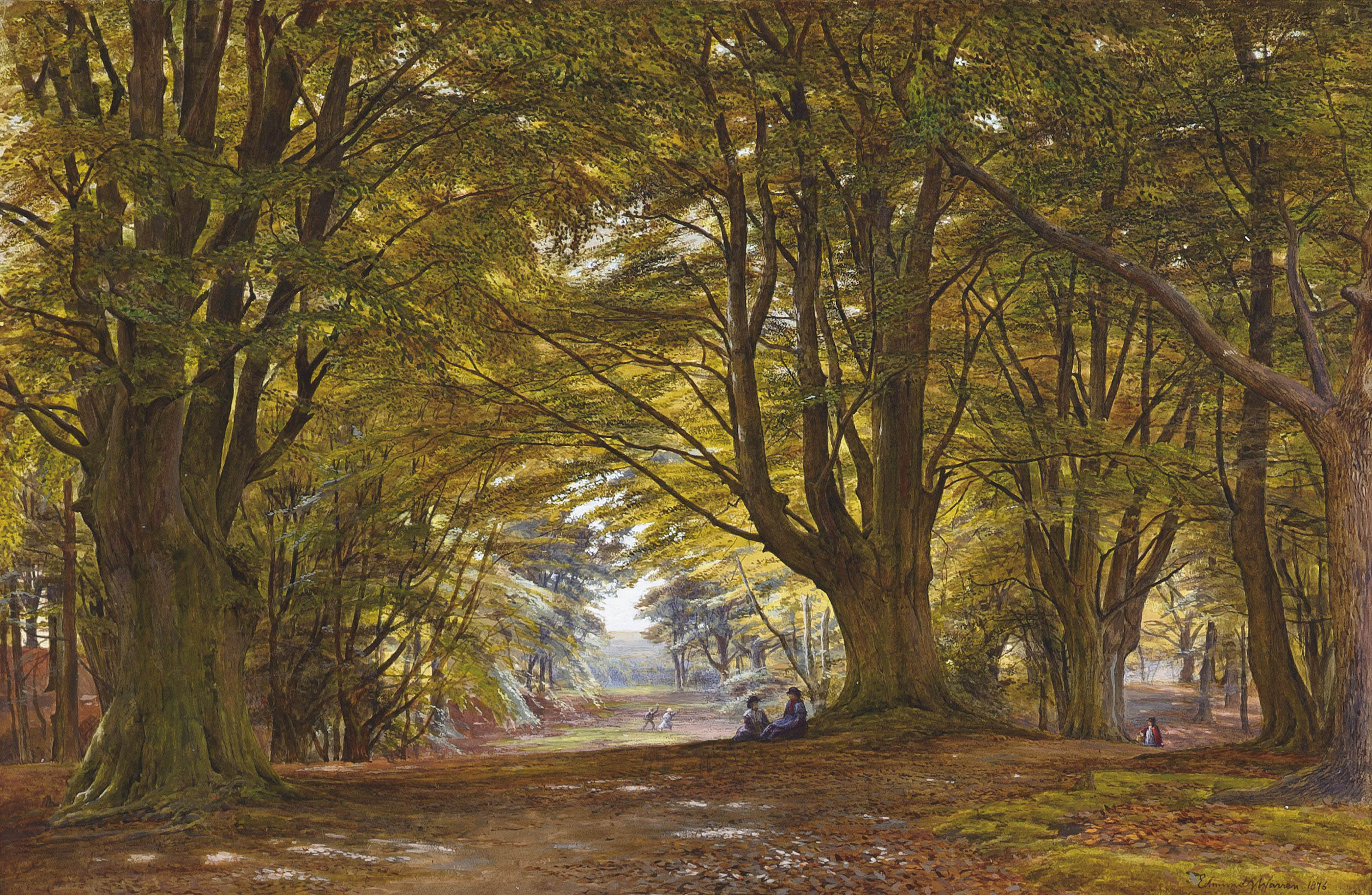 Playing in the Beech Wood