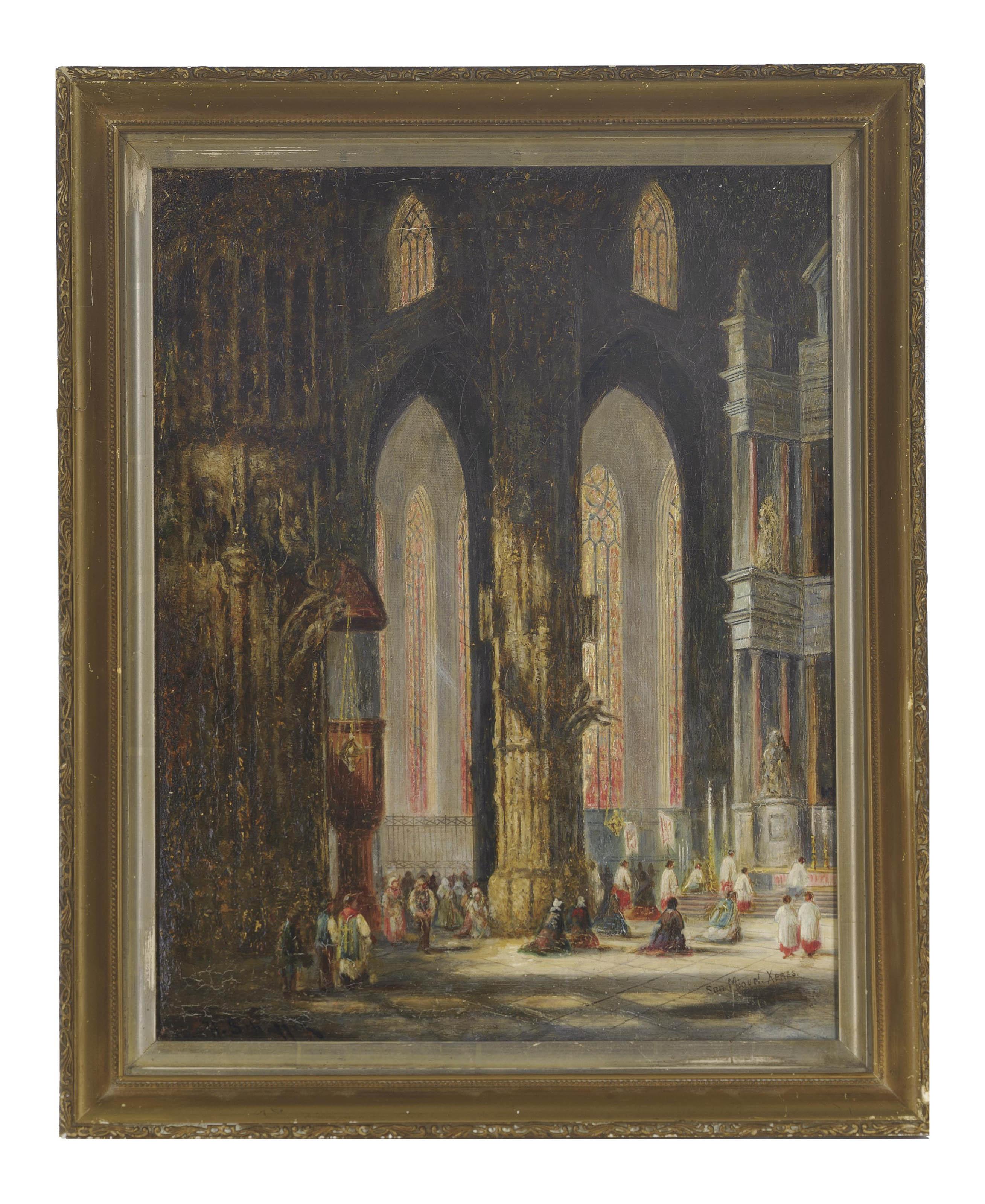 Scenes in the Church of San Miguel, Xeres de la Fronterra
