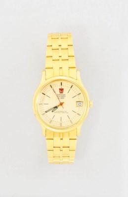 A quartz wristwatch, by Omega