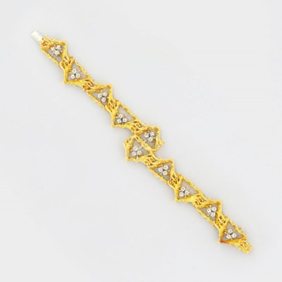 An 18ct. gold and diamond brac