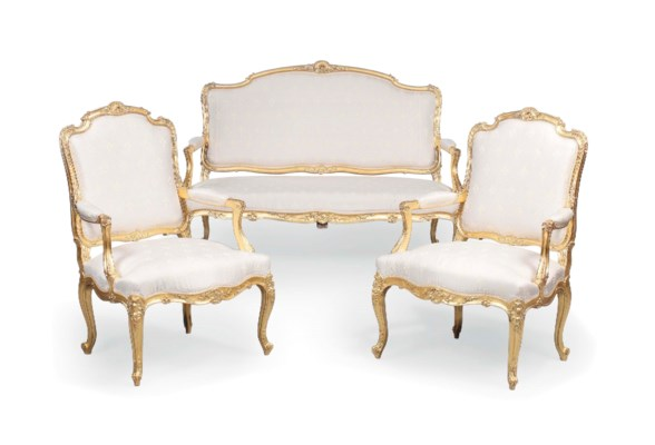 A french giltwood salon suite of louis xv style late for 212 salon st louis