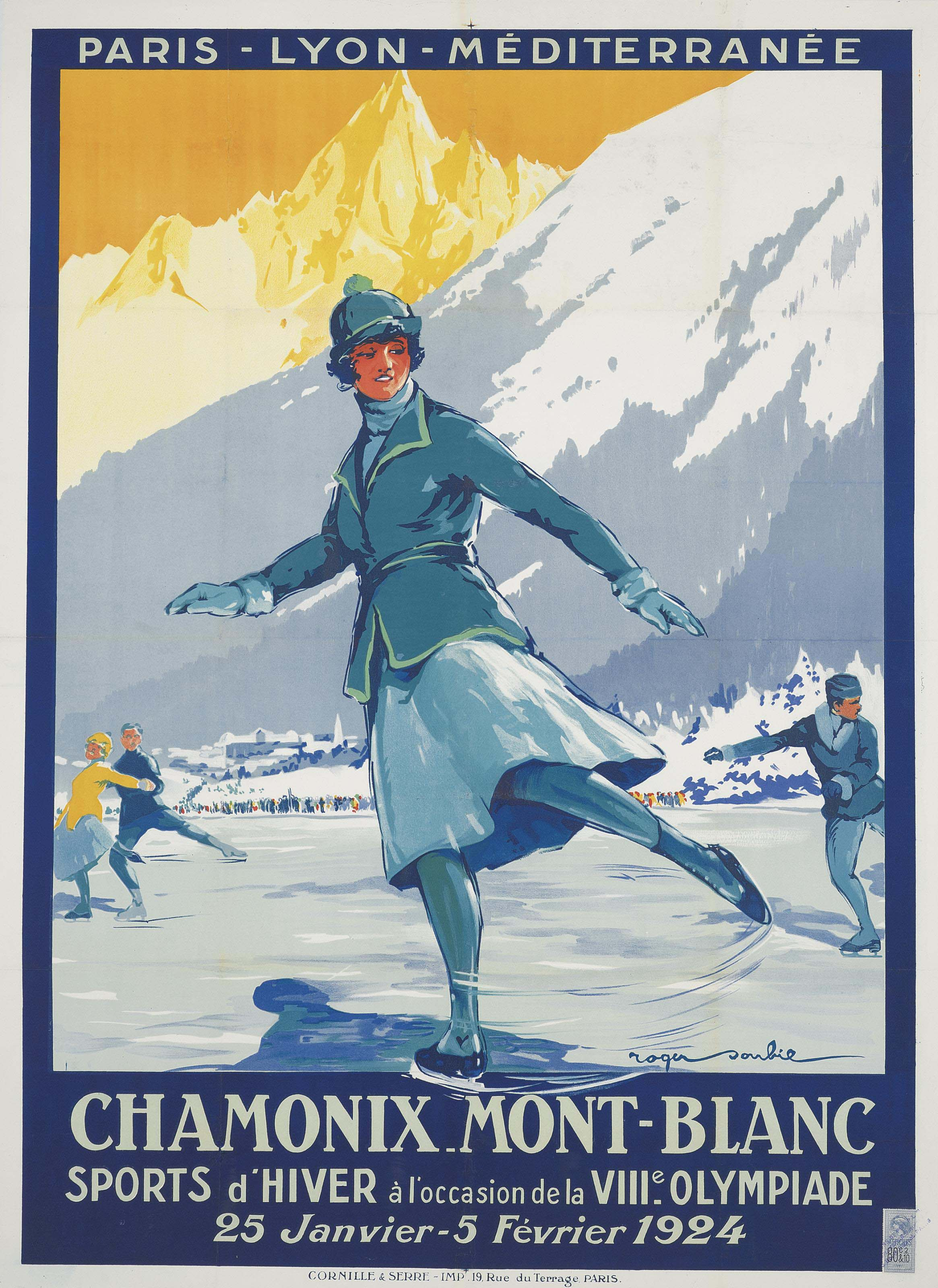 CHAMONIX MONT-BLANC, VIIIe OLYMPIADE 1924
