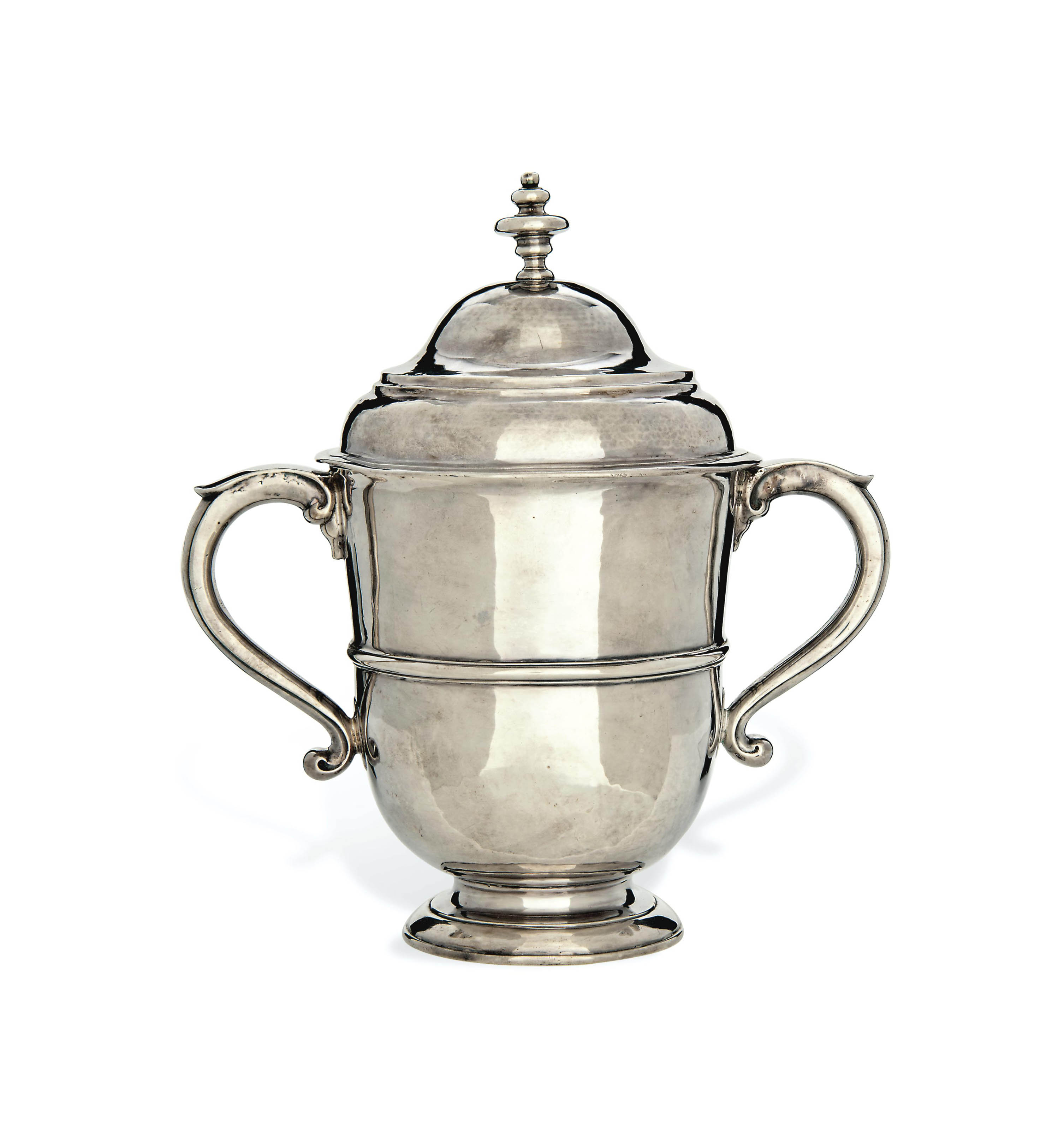 A QUEEN ANNE SILVER CUP AND COVER