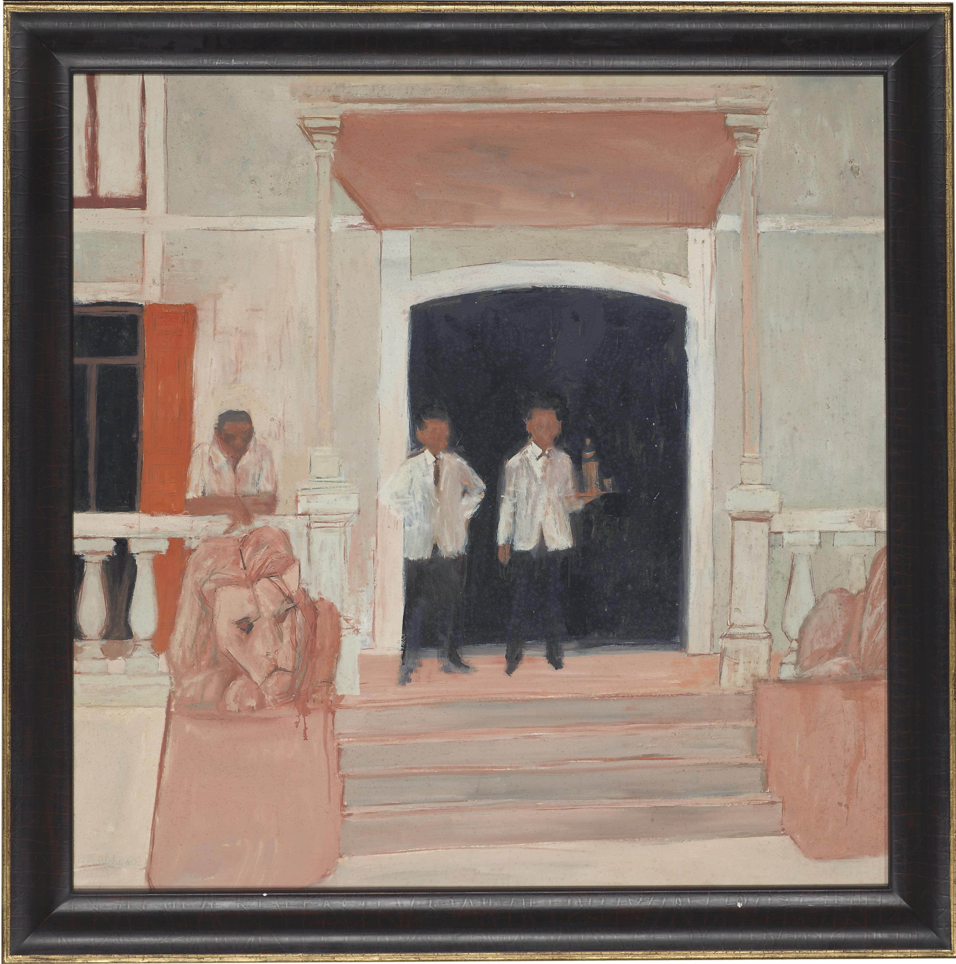 Spanish Hotel with Self-portrait