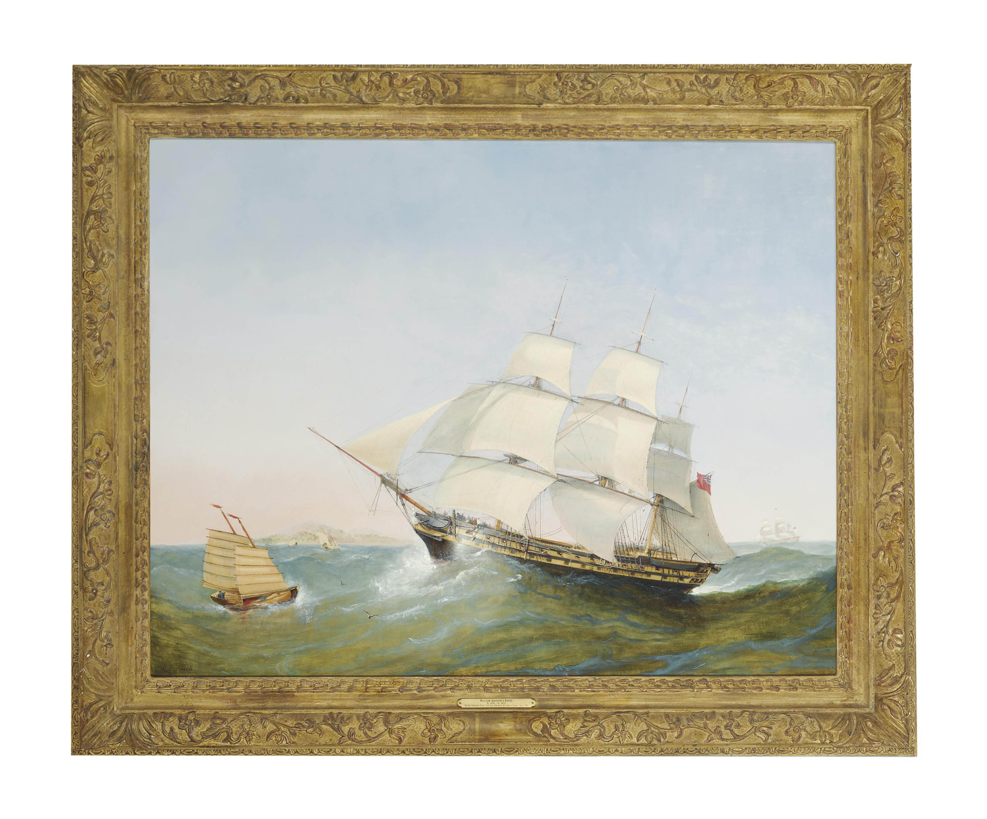 The East Indiaman Exeter making for the Ladrone Islands, China, 1805