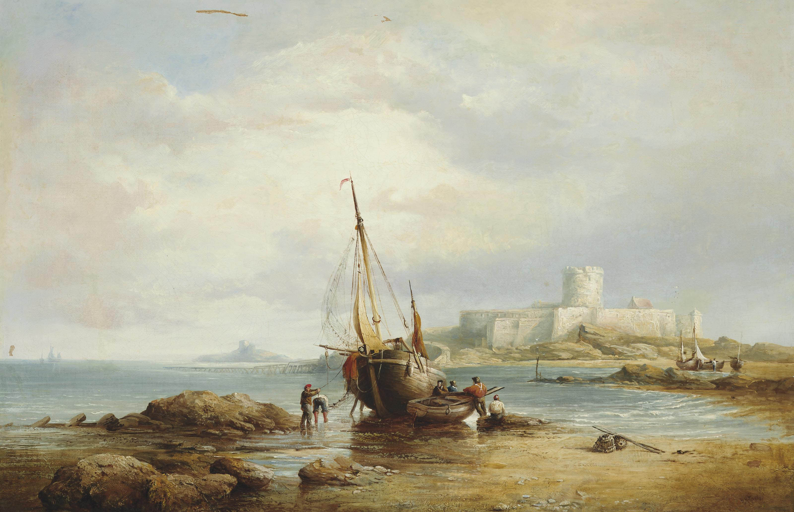 View of St. Aubin's Fort, St. Aubin's Bay, Jersey