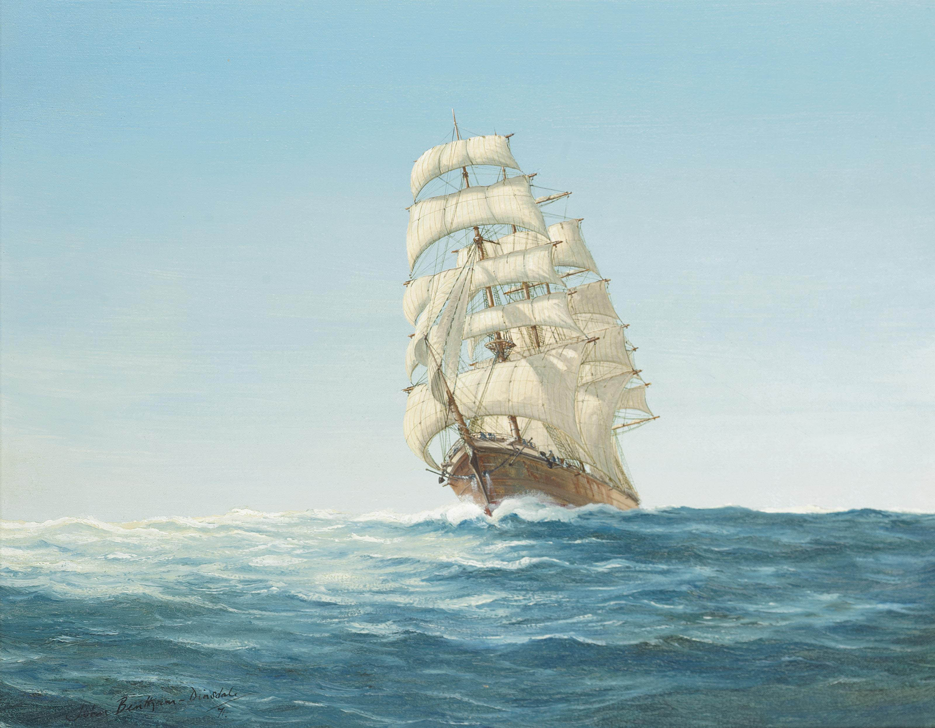 'Morning light'- The barque Carradale