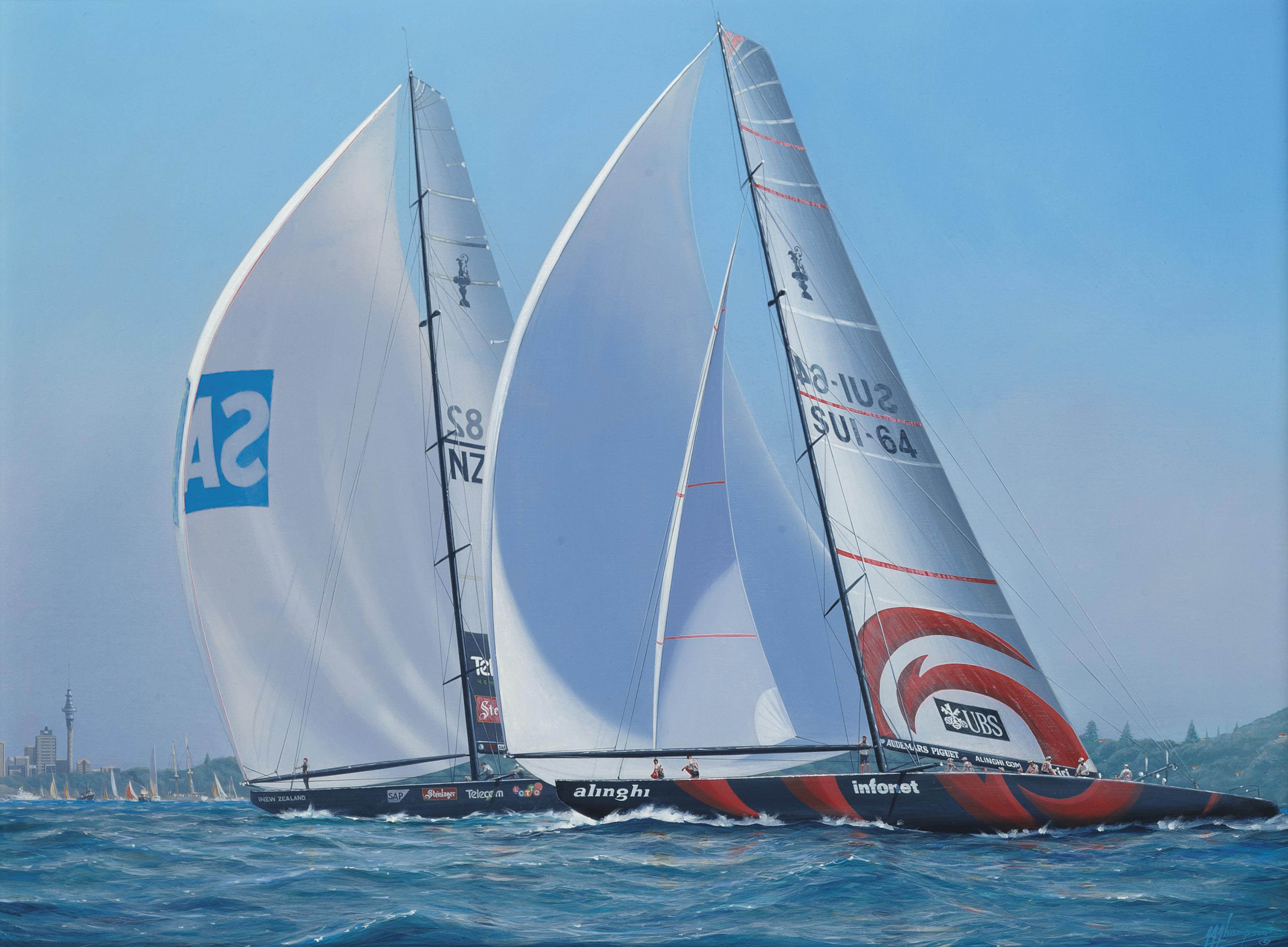 The America's Cup, 2003: Alinghi's spectacular win over New Zealand in Auckland harbour