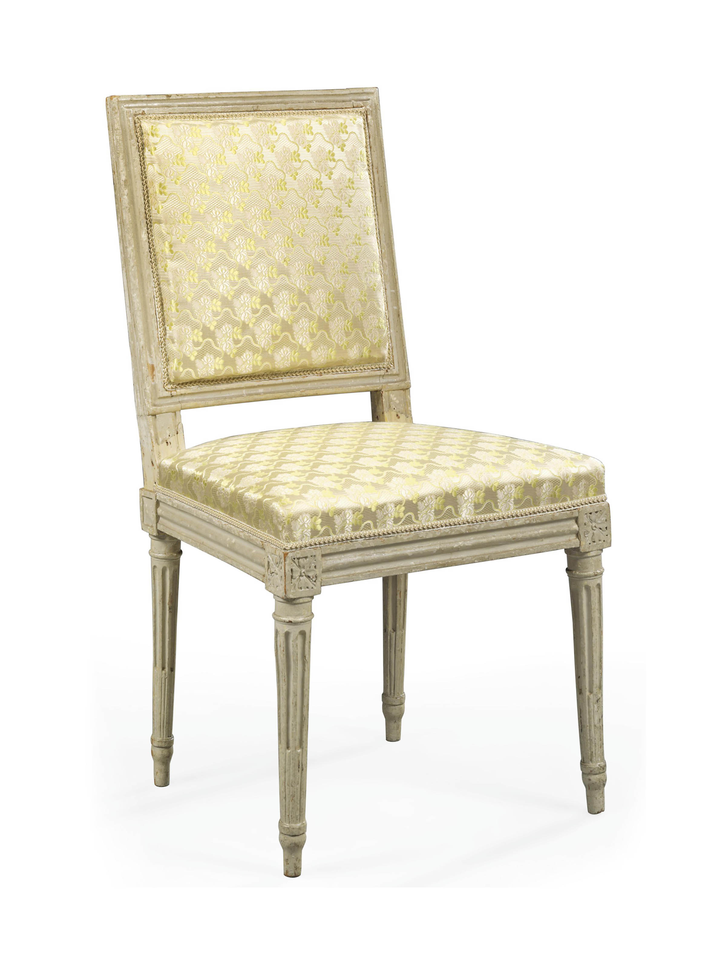 A LOUIS XVI WHITE-PAINTED SIDE CHAIR