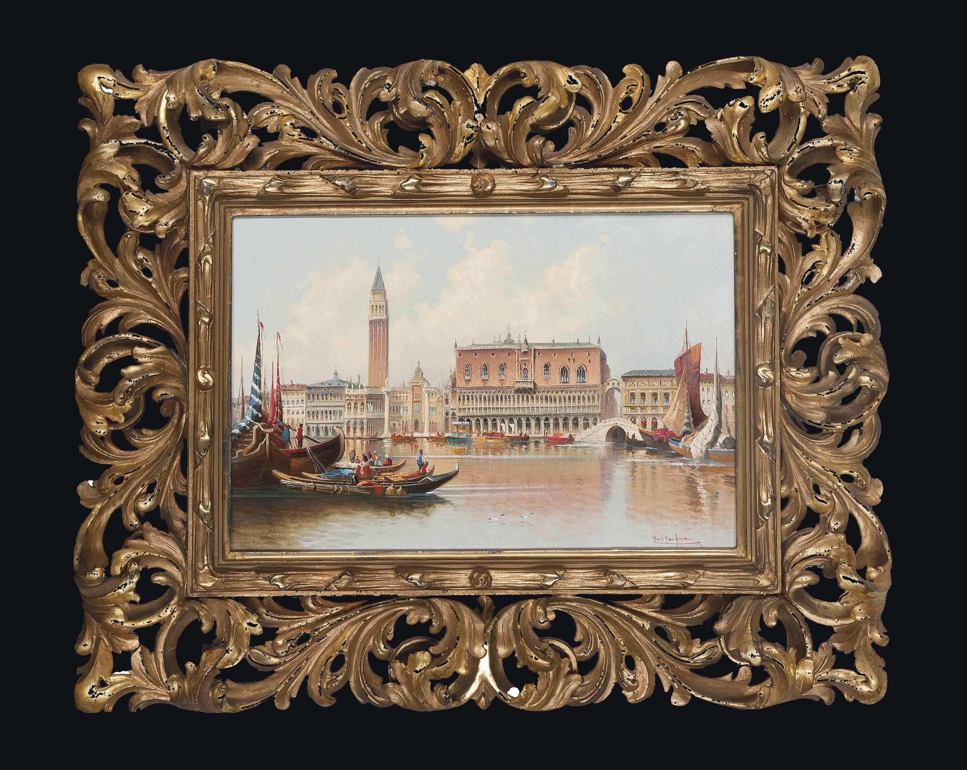 Trading vessels before the Molo, Venice