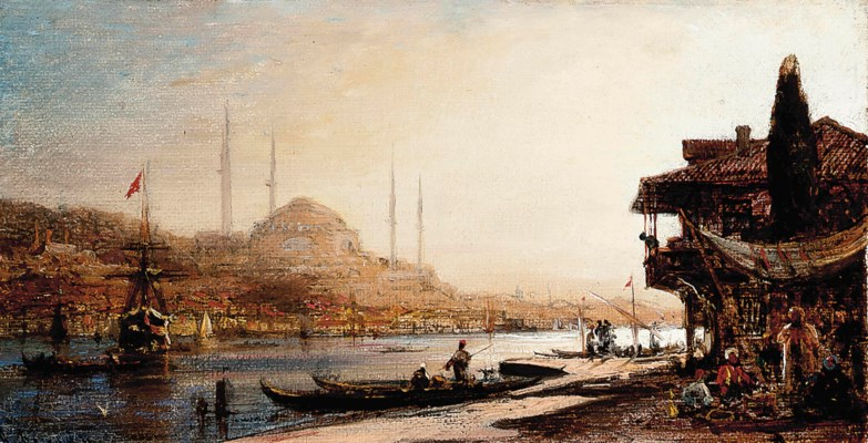 Sophia Horn Measurements: Antonietta Brandeis (Hungarian, 1849-1910) , A View Of