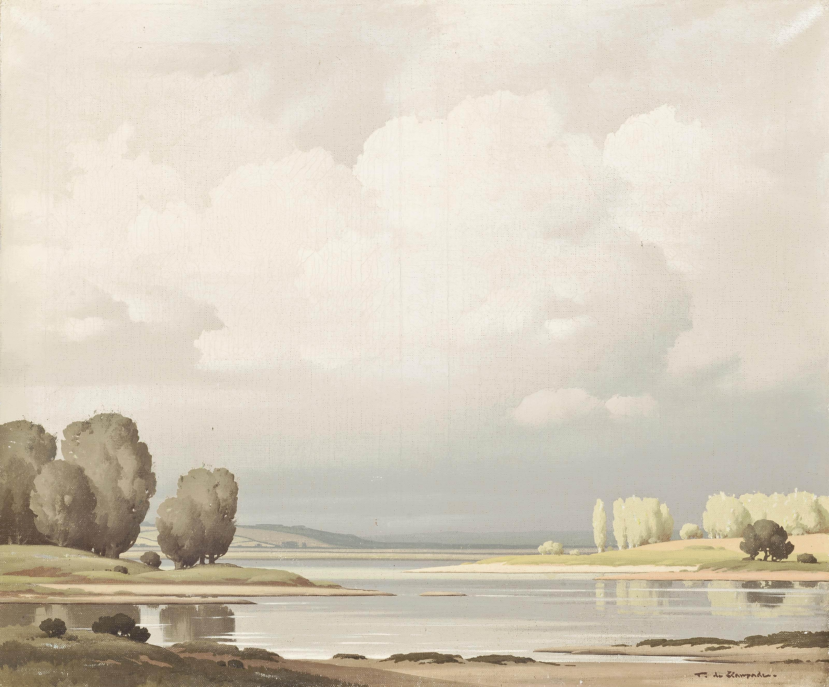 A tranquil river landscape