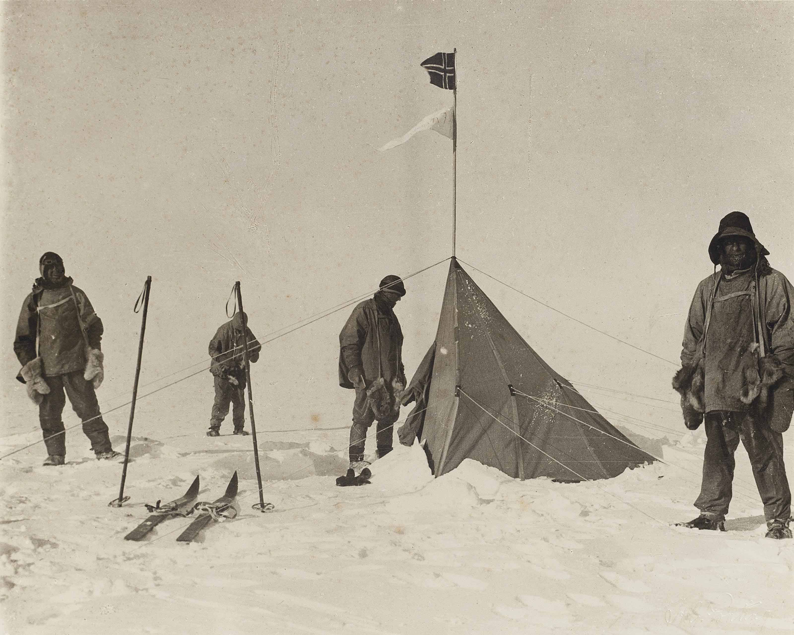 Forestalled! Amundsen's tent at the South Pole