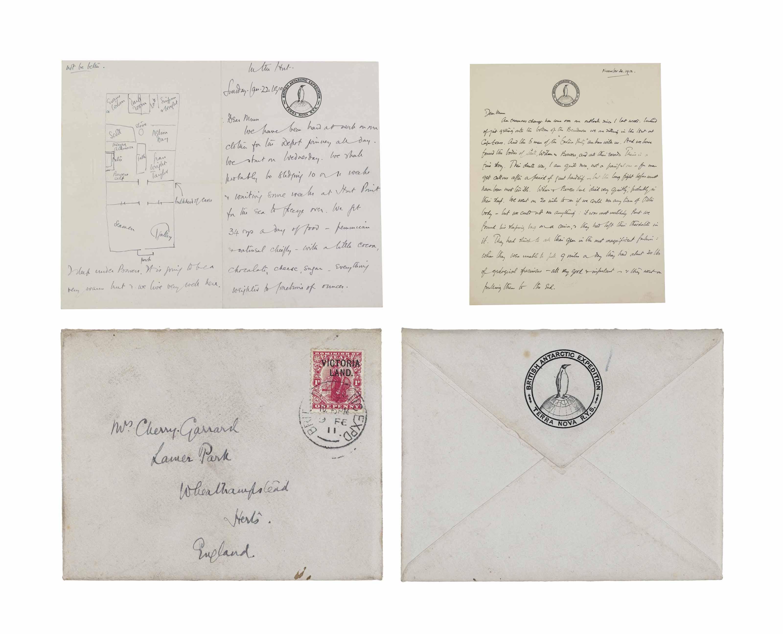 BRITISH ANTARCTIC EXPEDITION, 1910-1913 -- APSLEY GEORGE BENET CHERRY-GARRARD (1886-1959)