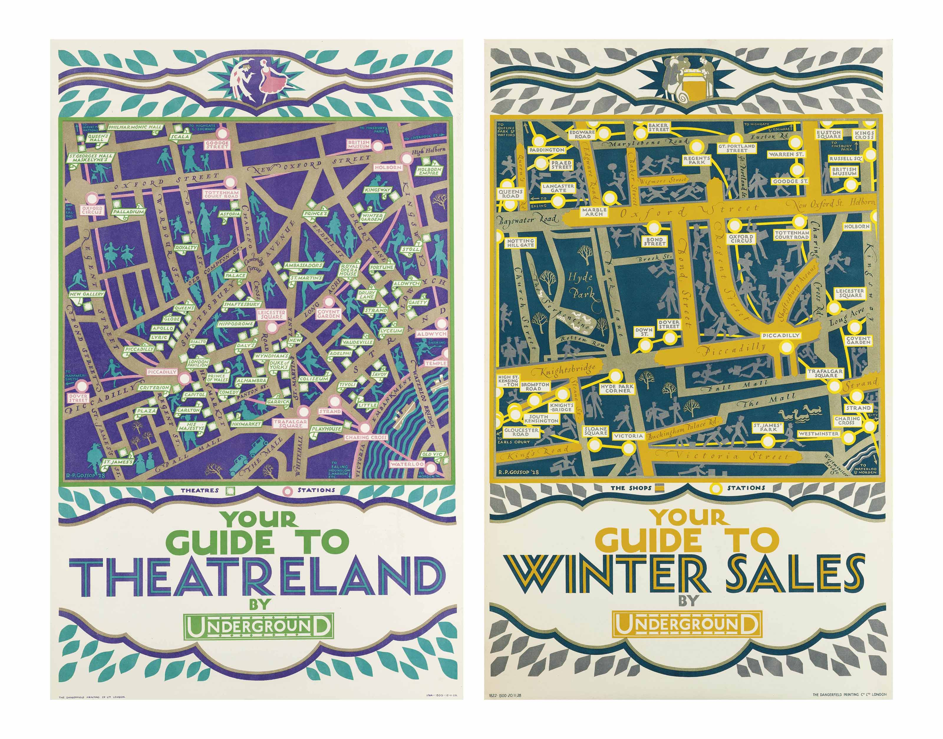 'YOUR GUIDE TO THEATRELAND' & 'YOUR GUIDE TO WINTER SALES'