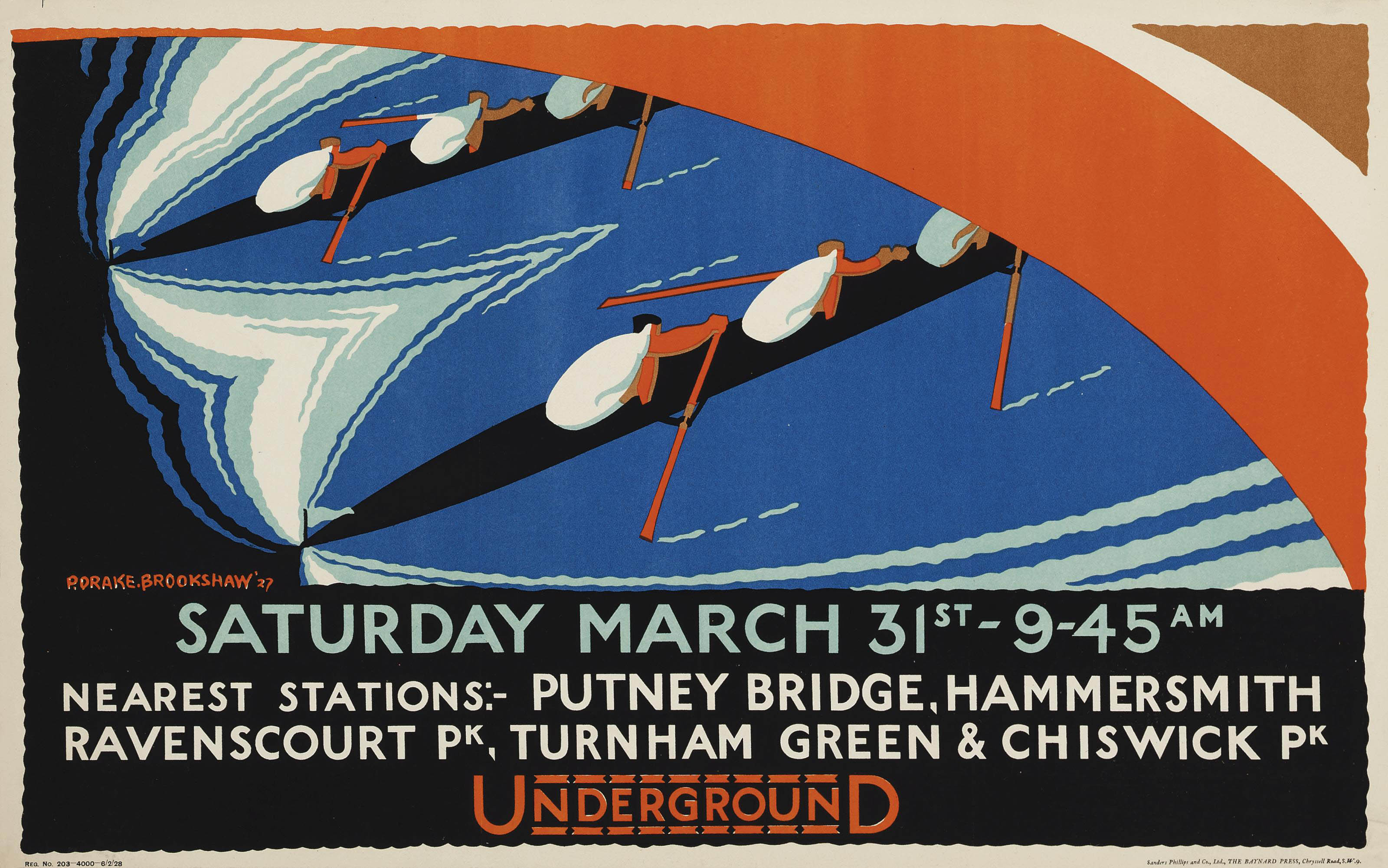 SATURDAY MARCH 31st, PUTNEY BRIDGE, HAMMERSMITH