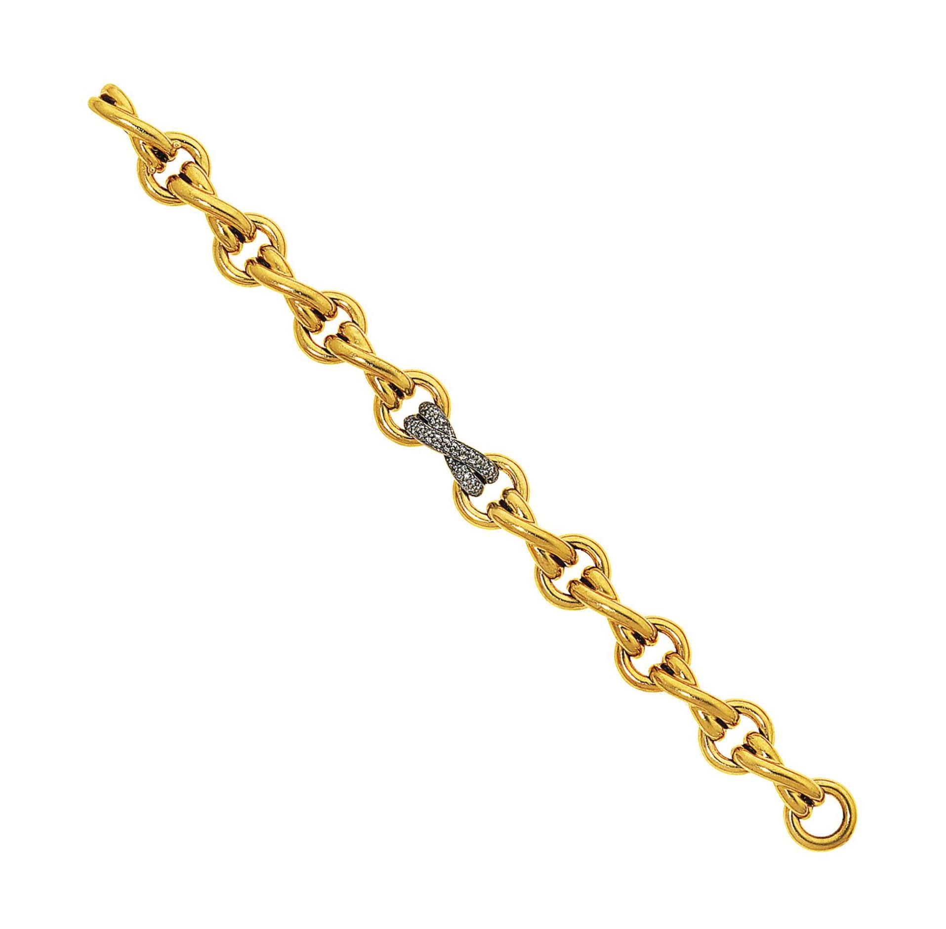 A diamond-set gold bracelet, by Paloma Picasso for Tiffany & Co.