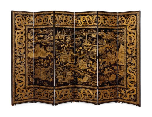 A CHINESE EXPORT GILT-LACQUER
