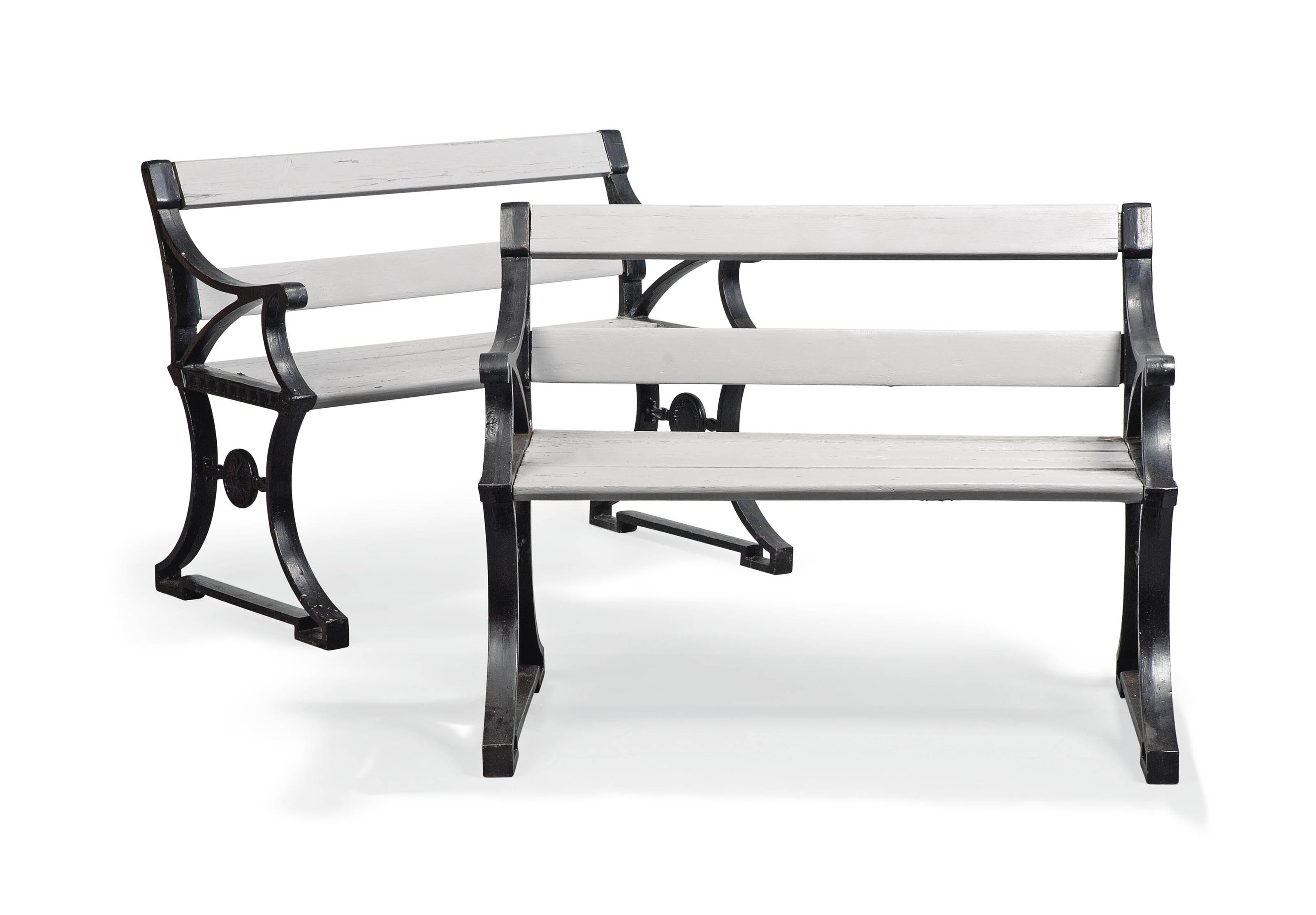 A PAIR OF FOLKE BENSOW (1886-1971) BENCHES