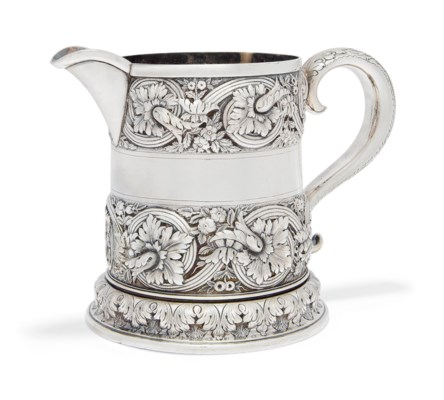 AN AMERICAN SILVER TWO QUART W