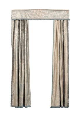 FOUR PAIRS OF CURTAINS