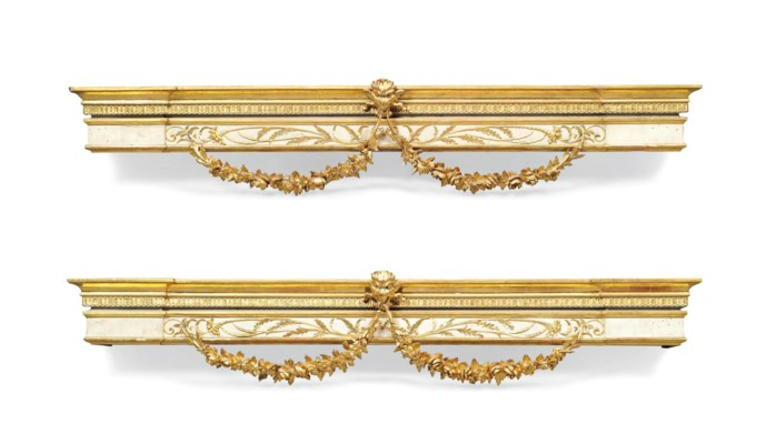 A PAIR OF GILTWOOD AND GESSO D