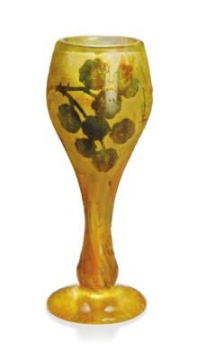 A DAUM CAMEO GLASS AND VITRIFI