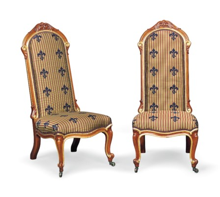 A PAIR OF EARLY VICTORIAN WALN