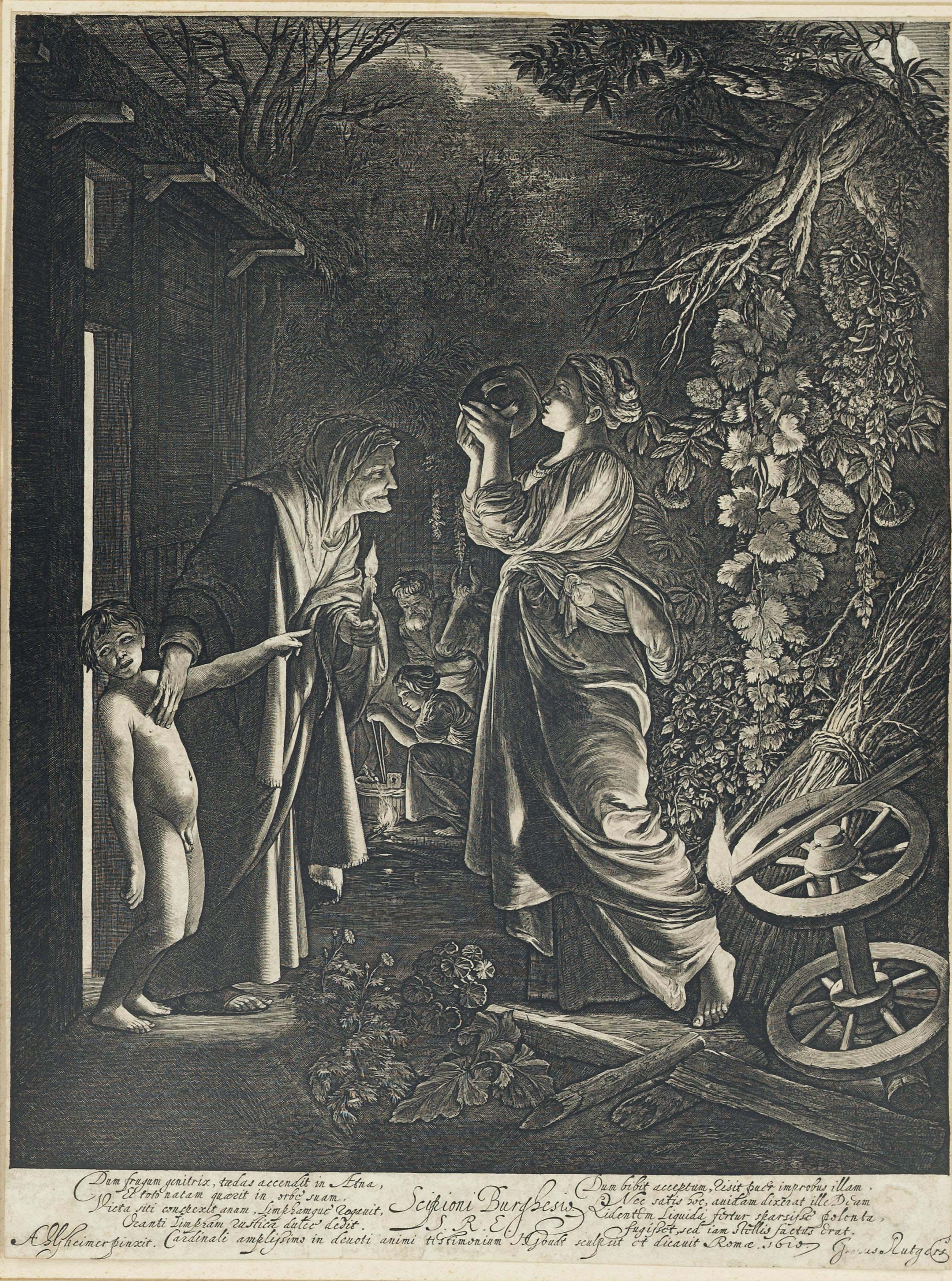 Ceres seeking her Daughter (Bartsch, Hollstein 5)