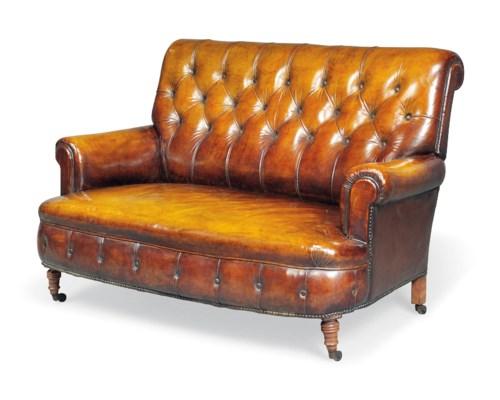 Ledersofa rockefeller  A FRENCH BEECH SOFA | CIRCA 1900-1910 | sofa, Furniture & Lighting ...