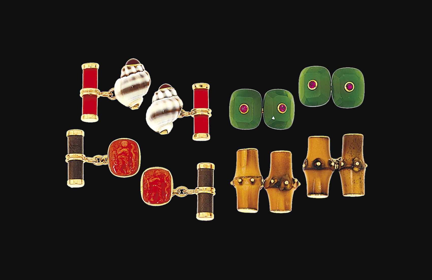 Four pairs of cufflinks, by Trianon