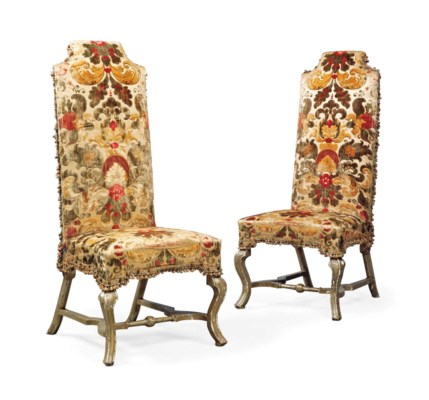 A PAIR OF QUEEN ANNE SILVERED