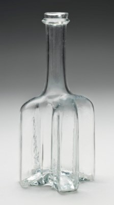 AN ENGLISH MOULDED-GLASS LARGE