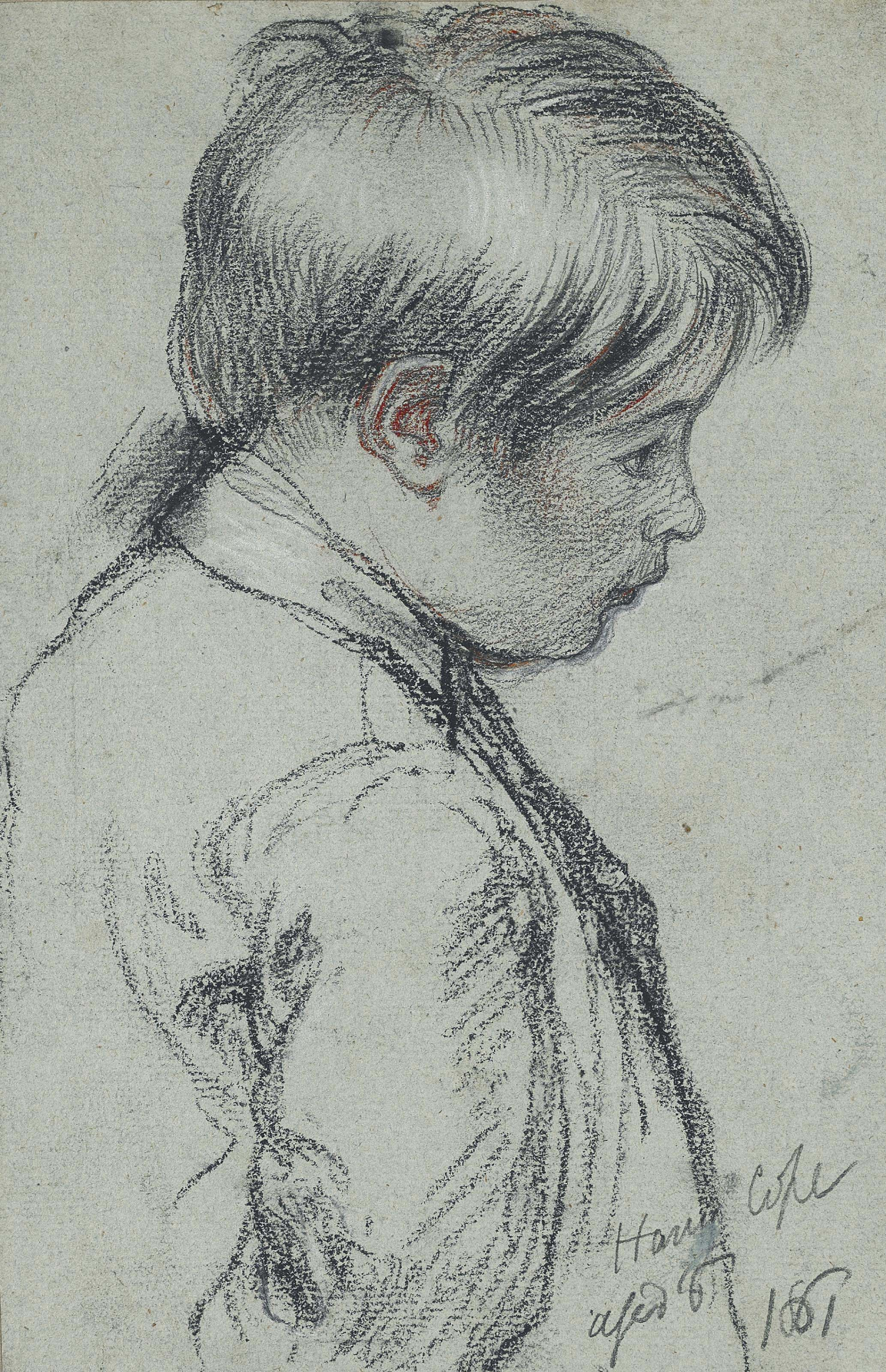 Portrait of Harry Cope, the artist's son, bust-length